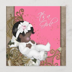 Pink and Brown Ethnic Baby Girl Shower