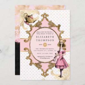 Pink and Gold Alice In Wonderland Baby Shower