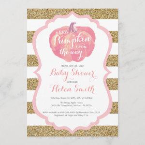 Pink and Gold Pumpkin Girl Baby Shower