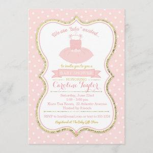 Pink and Gold Tutu Ballet Baby Shower