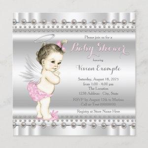 Pink and Silver Angel Baby Shower