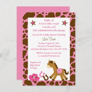 Pink Cowgirl Pony Baby Shower