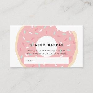 Pink Donut Baby Shower Diaper Raffle Ticket Enclosure Card