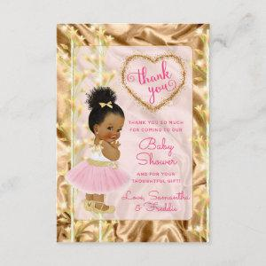 Pink & Gold Thank You Ethnic Baby Shower Card