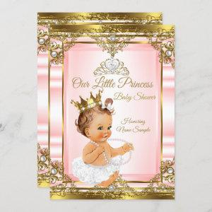 Pink Gold White Pearl Princess Baby Shower Light