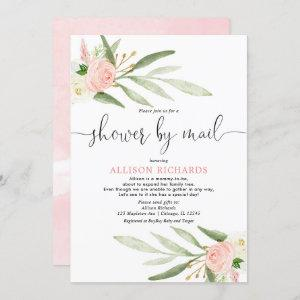 Pink greenery gold baby shower by mail girl