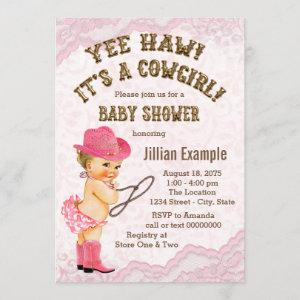 Pink Lace Cowgirl Baby Shower