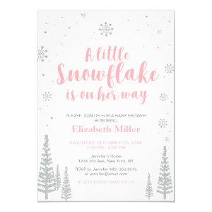 Pink Winter Wonderland, Girl Baby Shower/Sprinkle Invitation