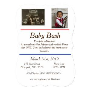 point baby shower and birthday invite