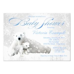 Polar Bear Winter Baby Shower Invitation