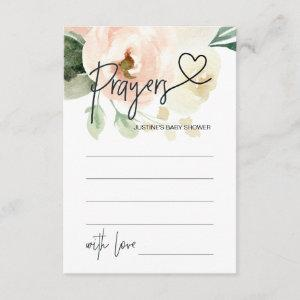 Prayers for Baby Neutral Baby Shower Game Card