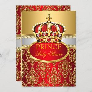 Prince Royal Red Crown Baby Shower