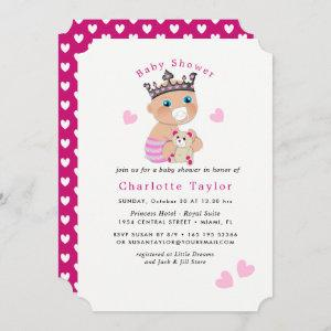 Princess Baby Girl Shower Party Cute Pink