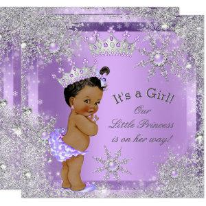 Princess Baby Shower Lilac Wonderland Ethnic Invitation