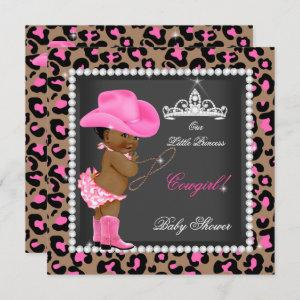 Princess Cowgirl Baby Shower Pink Brown Ethnic