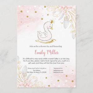 Princess swan baby shower by mail