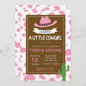 Print Cowgirl Baby Shower