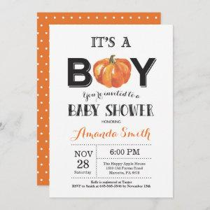 Pumpkin Fall Baby Shower Invitation Card