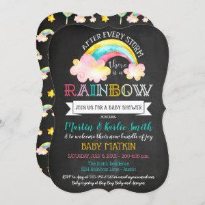Rainbow Baby After The Storm Baby Shower Invitation