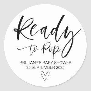 Ready To Pop Cute Baby Shower Favor Cute Classic Round Sticker
