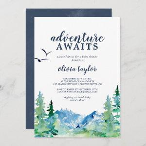 Rocky Mountain Adventure Awaits Baby Shower Invitation