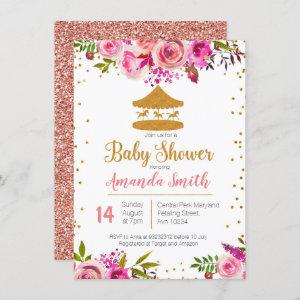 Rose Gold Circus baby shower