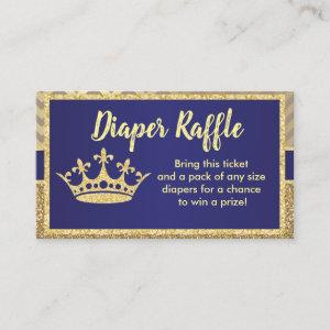 Royal Diaper Raffle Ticket for Baby Shower Enclosure Card