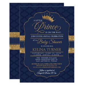 Royal Little Prince Baby Shower Invitation