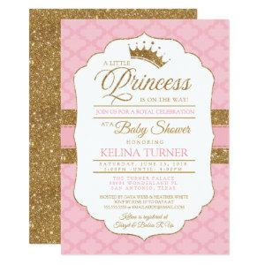 Royal Little Princess Pink Baby Shower Invitation