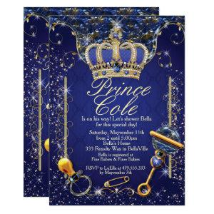 Royal Prince Baby Boy Shower Invitations
