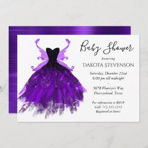 Royal Purple Fairy Wing Ball Gown | Baby Shower