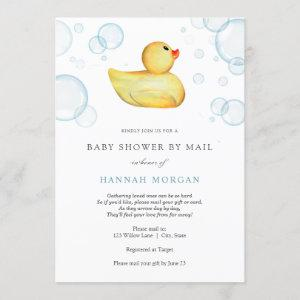 Rubber Duck Baby Shower by Mail invitation