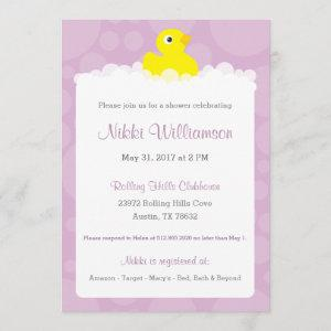 Rubber Ducky Baby Shower  - Lilac