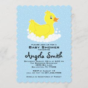 Rubber Ducky Baby Shower Scalloped