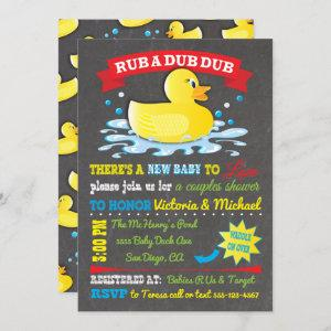 Rubber Ducky Couples Baby Shower