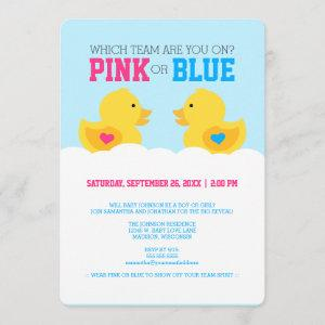 Rubber Ducky Pink or Blue Gender Reveal Party