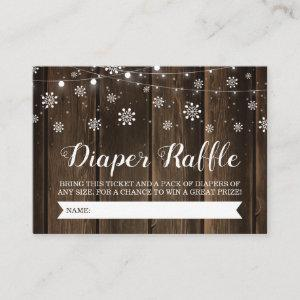 Rustic Baby It's Cold Outside Diaper Raffle Ticket Enclosure Card