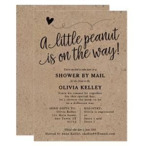 Rustic Baby SHOWER BY MAIL, Little Peanut, Kraft Invitation