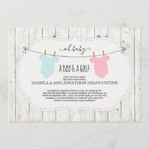 Rustic Baby Shower  for Twins