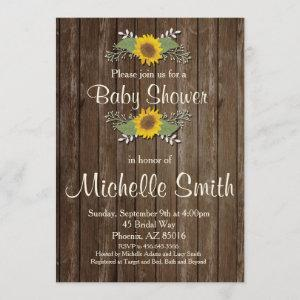 Rustic Baby Shower , Sunflower, Floral