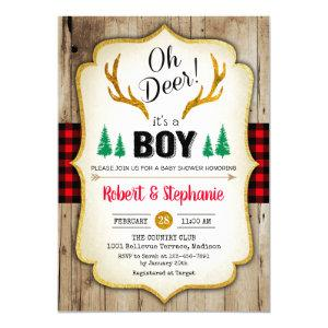 Rustic Baby Shower - Oh Deer Invitation