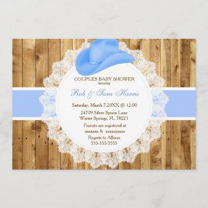 Rustic Country Vintage Camo Baby Shower Invite