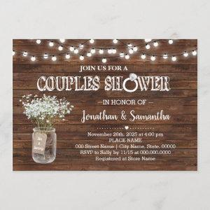 Rustic couples shower country barn wedding shower