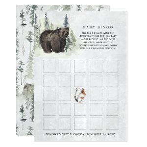 Rustic Forest | Baby Shower Bingo Card