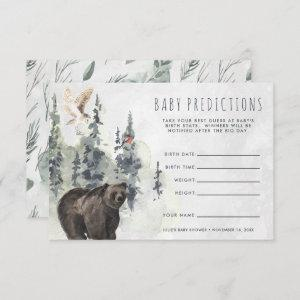 Rustic Forest | Baby Shower Guessing Game