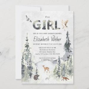 Rustic Forest Woodland Baby Shower Invitation