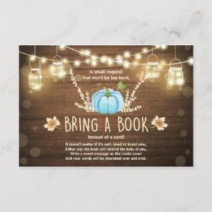 Rustic Little Pumpkin Baby Shower Bring a Book Invitation