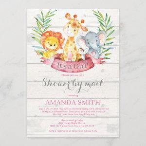 Rustic Safari Jungle Girl Baby Shower by Mail