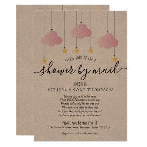 Rustic Shower By Mail Long Distance Sprinkle Invitation