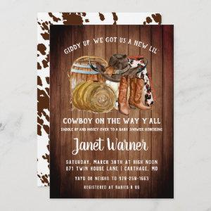Rustic Western Rodeo Cowboy Baby Shower